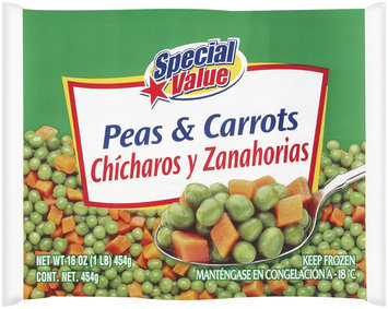 Special Value  Peas & Carrots 16 Oz Bag