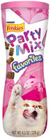 Purina Friskies Party Mix Favorites Slammin' Salmon Flavor Cat Treats 4.5 oz. Canister