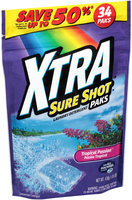 XTRA™ Sure Shot™ Tropical Passion™ Concentrated Laundry Detergent Paks 34 ct Stand up Bag