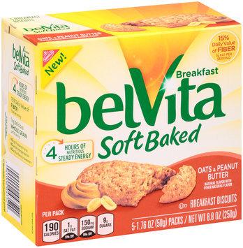 belVita Soft Baked Oats & Peanut Butter Breakfast Biscuits 5-1.76 oz. Packs