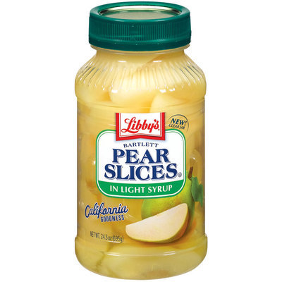 Libby's® Bartlett In Light Syrup Pear Slices 24.5 Oz Plastic Jar