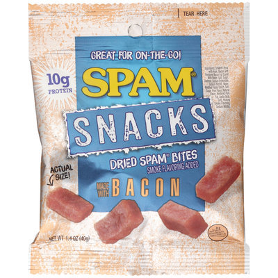 Spam® Snacks Dried Spam® Bites Made With Bacon 1.4 oz. Bag