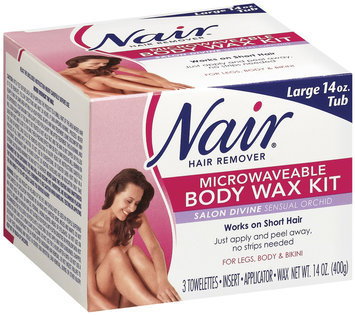 Nair Body Wax Kit Microwaveable Salon Divine Sensual Orchid Hair Remover 14 Oz Box
