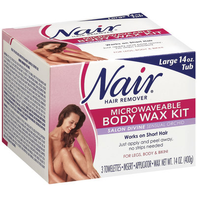 Nair Body Wax Kit Microwaveable Salon Divine Sensual Orchid Hair Remover 14 Oz Box