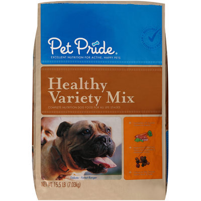 Pet Pride® Healthy Variety Mix Dry Dog Food 15.5 lb. Bag
