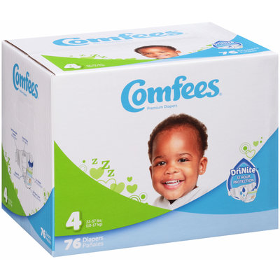 Comfees® Premium Diapers 76 ct. Box
