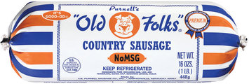 Purnell's Old Folks No Msg Country Sausage  16 Oz Chub