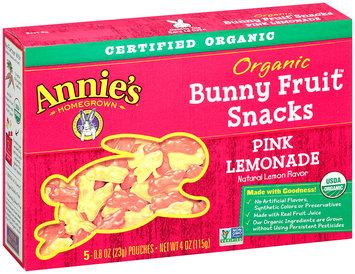 Annie's Homegrown® Pink Lemonade Organic Bunny Fruit™ Snacks