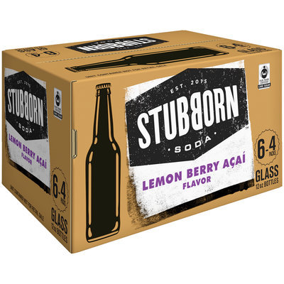 Stubborn Soda™ Lemon Berry Acai 24-12 fl. oz. Glass Bottle