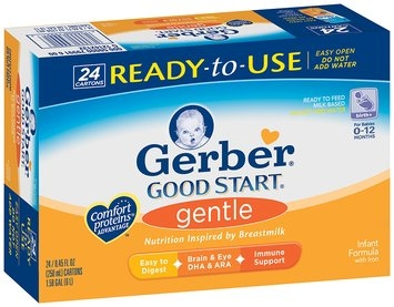 GERBER GOOD START Gentle Ready to Feed 8.45 Oz Infant Formula 24 CT ASEPTIC PK