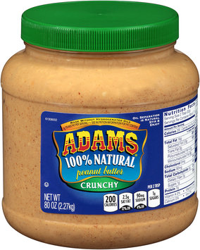Adams® 100% Natural Crunchy Peanut Butter 80 oz. Jar