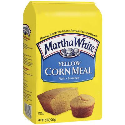 Martha White Yellow Plain Enriched Corn Meal 5 Lb Bag