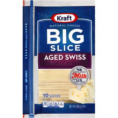 Kraft Natural Cheese Big Slice Aged Swiss Cheese Slices 10 ct ZIP-PAK®