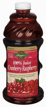 Haggen Cranberry Raspberry Juice 64 Oz Plastic Bottle