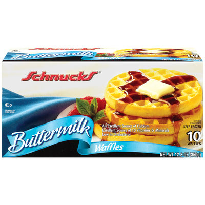 Schnucks Buttermilk 10 Ct Waffles 12.3 Oz Box