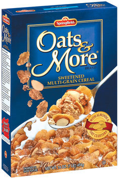 Springfield Oats & More with Almonds & Oat Clusters Cereal 16 oz. Box