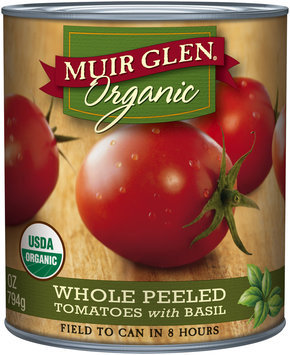 Muir Glen® Organic Whole Peeled Tomatoes with Basil 28 oz. Can