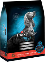 Purina Pro Plan Focus Adult Sensitive Skin & Stomach Lamb & Oat Meal Formula Dog Food 24 lb. Bag