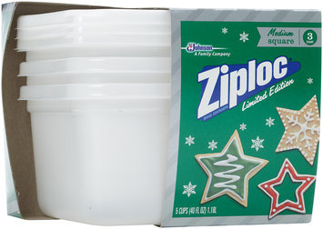Ziploc® Medium Square Holiday White Containers 3 ct Pack