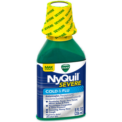 Severe Vicks NyQuil Severe Cold & Flu Liquid Original Flavor