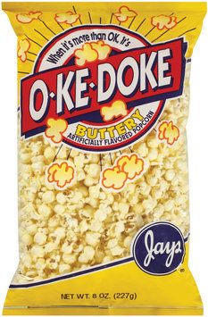 O-Ke-Doke Buttery Artificial Flavored Popcorn 8 Oz Bag
