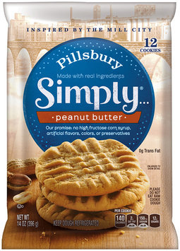Pillsbury Simply...® Peanut Butter Cookies 14 oz. Pack