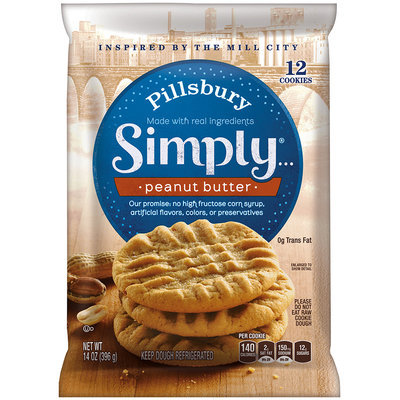 Pillsbury Simply...® Peanut Butter Cookies 14 oz. Pack