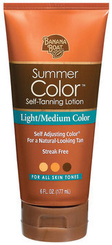 Banana Boat Summer Color Sunless Light/Medium Self-Tanning Lotion (79656 00780) 6 Fl Oz Tube