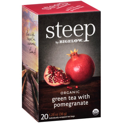 Steep with Bigelow® Organic Green Tea with Pomegranate Tea Bags 20 ct. Bags