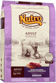 Nutro® Adult Venison Meal, Whole Brown Rice & Oatmeal Recipe Dog Food 30 lb. Bag