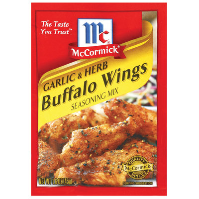 Chicken Garlic & Herb Buffalo Wings Seasoning Mix 1.6 Oz Packet