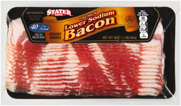 Stater Bros.® Lower Sodium Bacon 16 oz. Pack