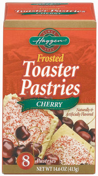 Haggen Frosted Cherry 8 Ct Toaster Pastries 14.6 Oz Box