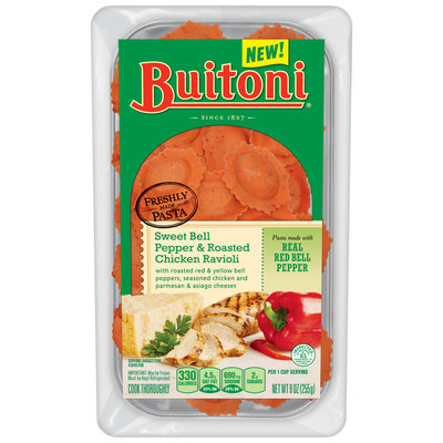 BUITONI Refrigerated Sweet Bell Pepper and Roasted Chicken Ravioli 9 oz Tray