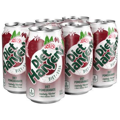 Diet Hansen's® Premium Diet Pomegranate Soda 6-12 fl. oz. Cans