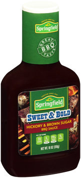 Springfield® Sweet & Bold Hickory & Brown Sugar BBQ Sauce 18 oz. Bottle