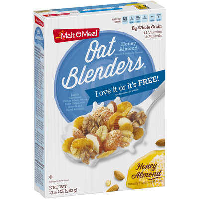 Malt-O-Meal® Oat Blenders® Honey Almond Cereal 13.5 oz. Box