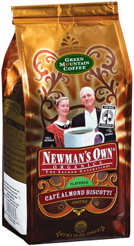 Newman's Own Organics Cafe Almond Biscotti Flavored Ground Coffee 10 Oz Stand Up Bag