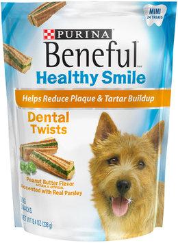 Purina Beneful Healthy Smile Twists Mini Dental Dog Snacks 24 ct Pouch