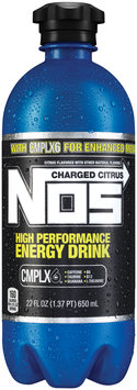 NOS High Performance Energy Drink Charged Citrus 22 fl. oz. Plastic Bottle