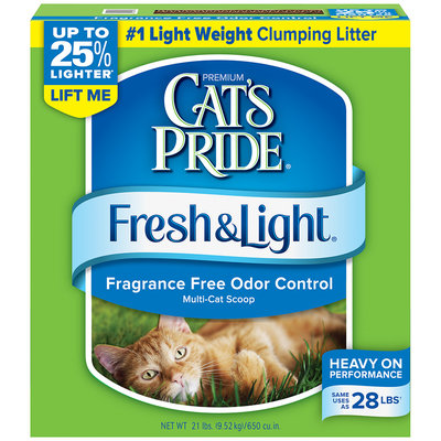 Cat's Pride Fresh & Light Premium Clumping Multi-Cat Scoopable Cat Litter 21 Lb Box