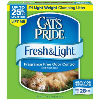 Cat's Pride Fresh & Light Premium Clumping Multi-Cat Scoopable Cat Litter 21 Lb Box
