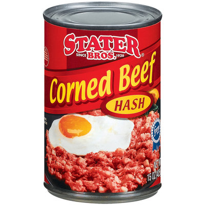 Stater Bros. Corned Beef Hash 15 Oz Can