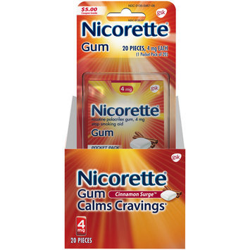 Nicorette® 4mg Fruit Chill® Stop Smoking Aid Gum 20 ct Carded Pack