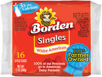 Borden® White American Singles 16 ct Pack