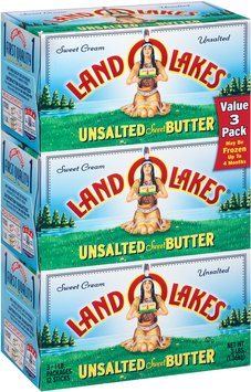 Land O'Lakes® Sweet Cream Unsalted Sweet Butter Stick 3-4 ct Box