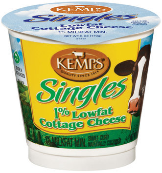 Kemps Singles 1% Lowfat Cottage Cheese 6 Oz Cup