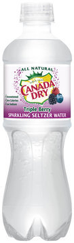 Canada Dry® Triple Berry Sparkling Seltzer Water 6-0.5L Plastic Bottles