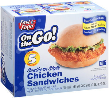 Fast Fixin'® On the Go! Southern Style Chicken Sandwiches 5-4.25 oz. Box