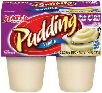 Stater Bros. Vanilla Pudding 4 Ct Cups